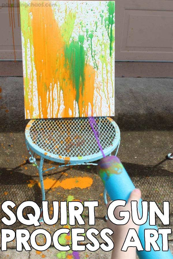 Squirt Gun Process Art Painting