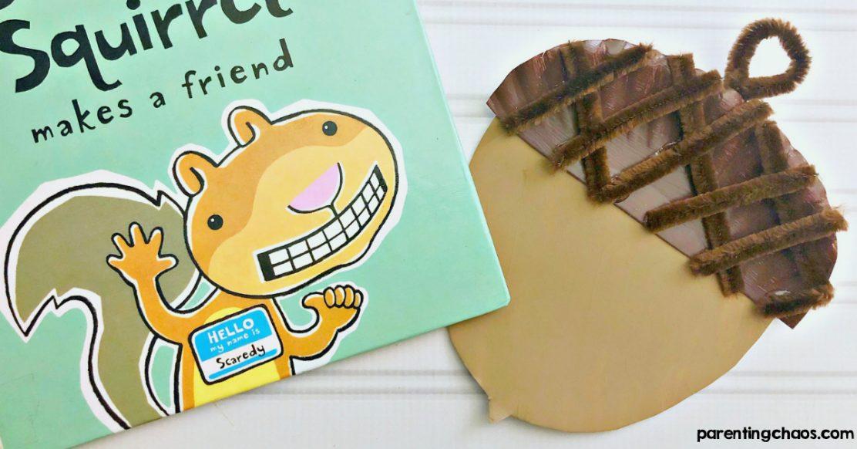 Acorn Paper Plate Craft for Preschoolers