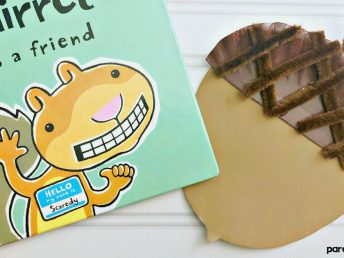 Acorn Paper Plate Craft for Preschoolers
