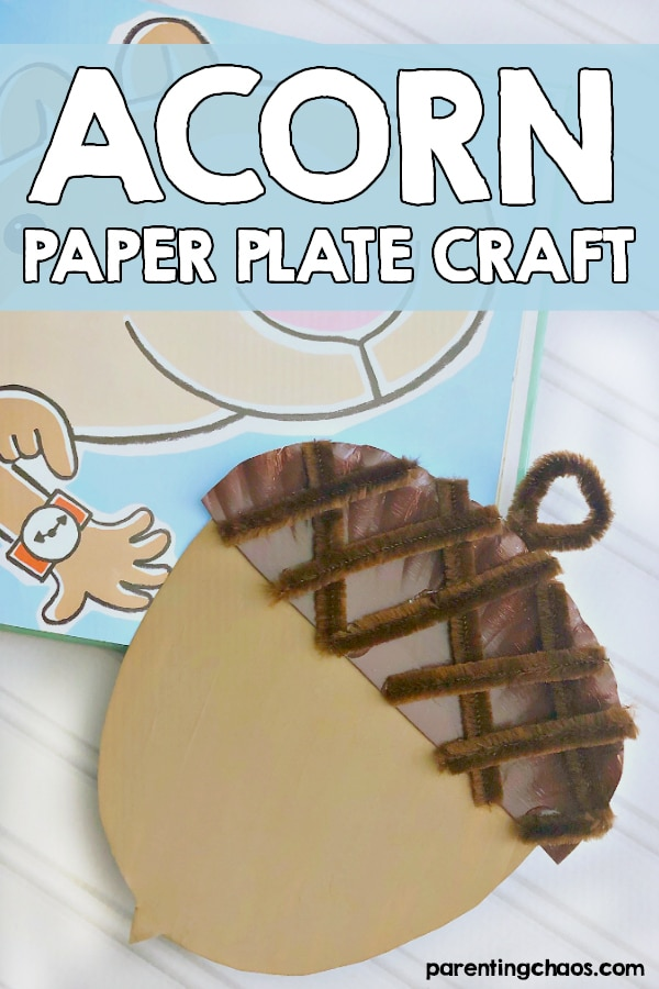 Acorn Paper Plate Craft for Kids