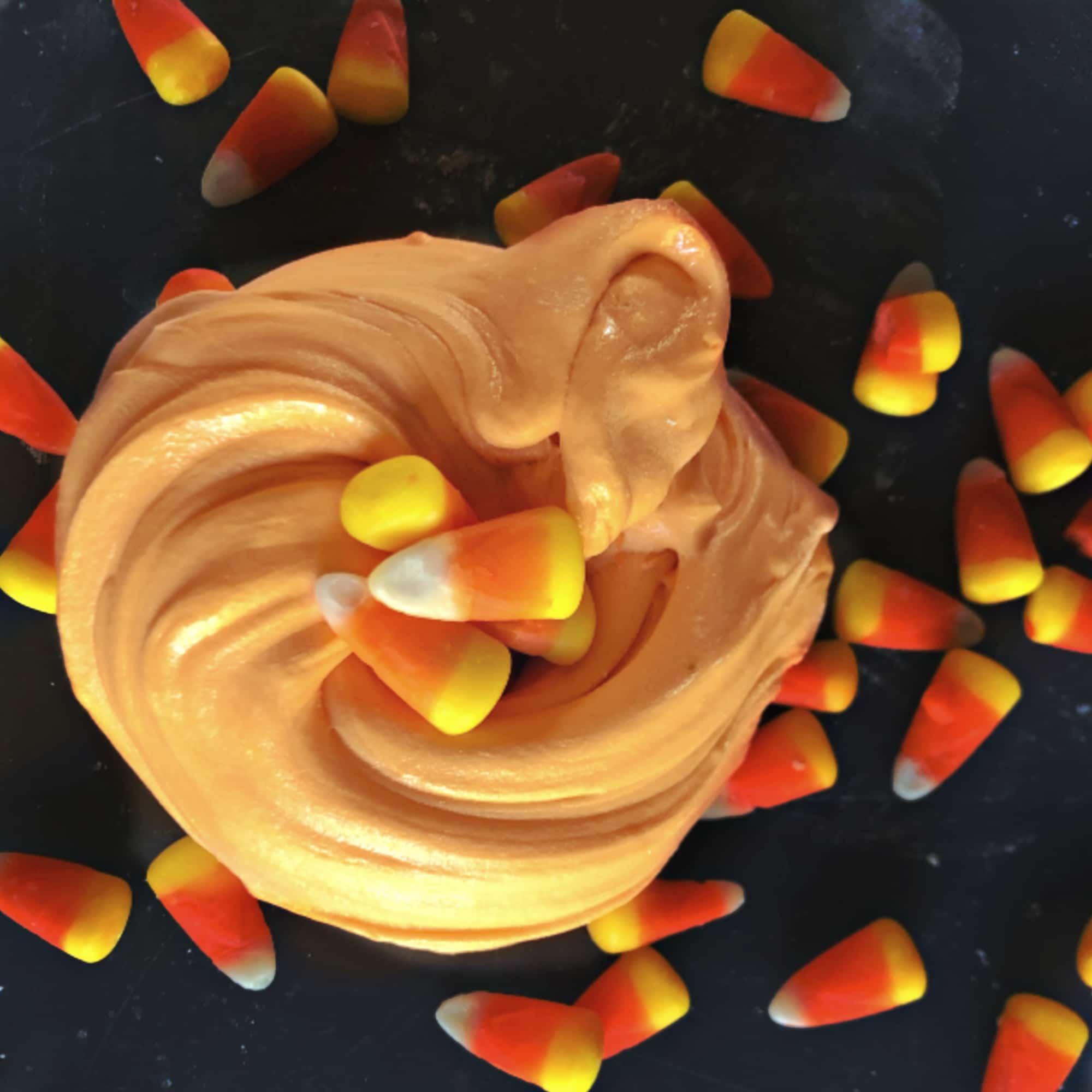 Edible Candy Corn Slime
