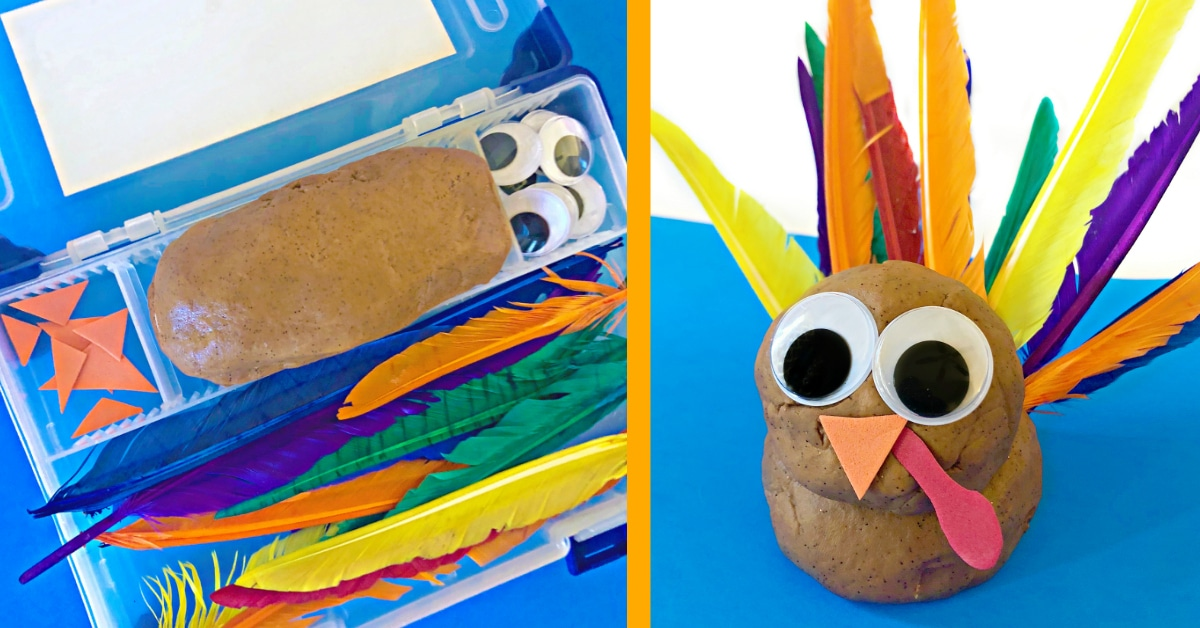 Build a Turkey Play Dough Kit