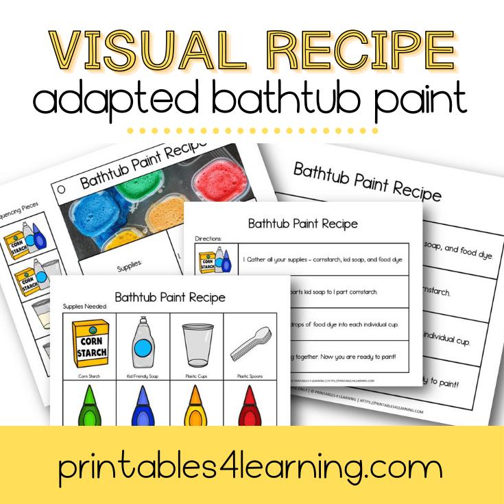Adapted Visual Recipe: Bathtub Paint