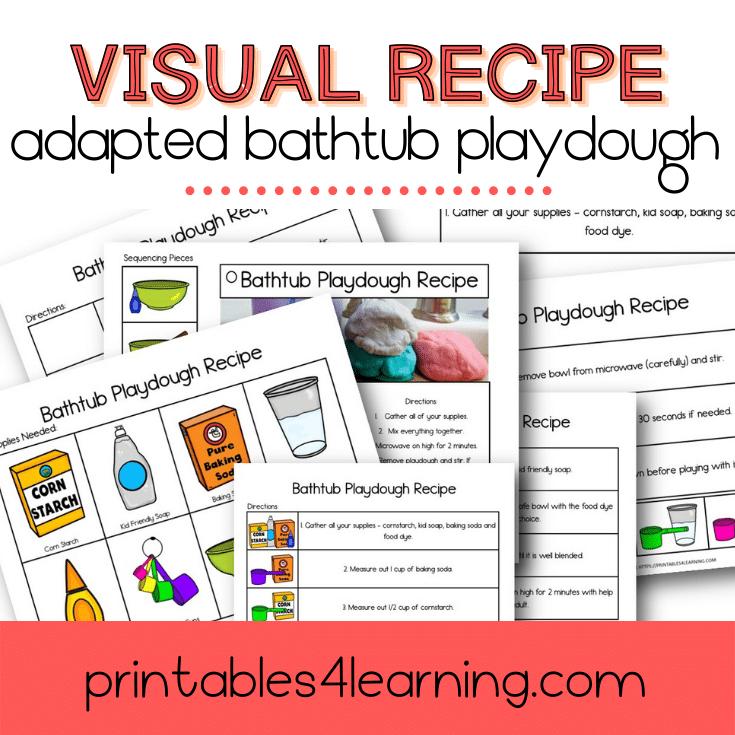 Adapted Visual Recipe: Bubble Bath Playdough